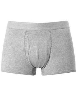 Men's Supersoft Cotton Trunks In Grey Melange