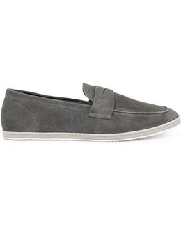 Men's Summer Loafers In Grey