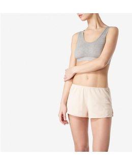 Women's French Knicker In Superfine Cotton In Light Nude