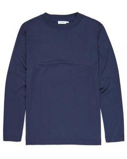 Men's Fine Merino Wool Polo In Light Navy