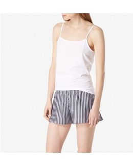 Women's Striped Chambray French Knicker In Navy / White