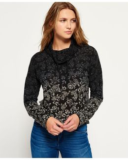 Nordic Ombre Funnel Neck Top