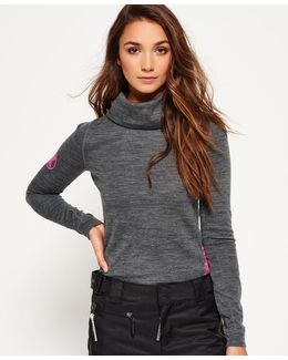 Merino Cowl Neck Base Layer Top