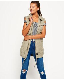 Sleeveless Mono Utility Jacket
