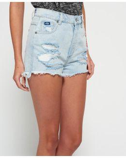 Hannah Super Ripped Denim Shorts