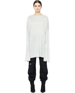 Rayon And Linen Long Sleeve T-shirt