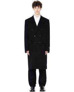 Double-breasted Camel Wool Coat