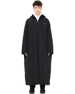 Floor Length Puffer Jacket With Logo