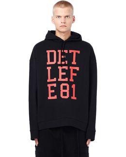 Detlef E81 Oversized Cotton Hoodie