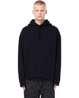 Oversized Loopback Jersey-cotton Printed Hoodie