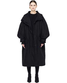 Velcro Zip-up Parka Coat