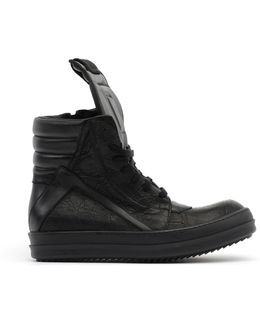 Alligator Leather Hi-top Sneakers