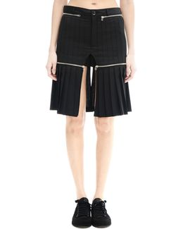 Wool Shorts With Upper Skirt