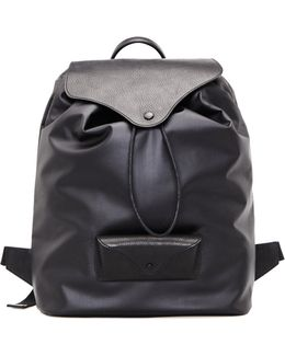 Leather And Textile Backpack