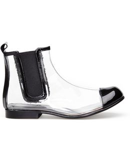 Clear Pvc Chelsea Boots