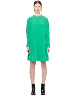 Silk And Acetate Dress