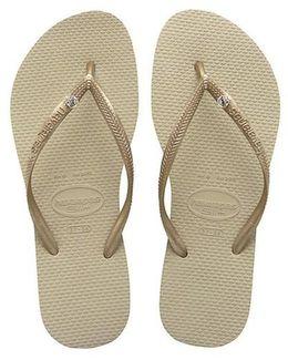 Crystal Glamour Sand Grey Light Golden Sandal
