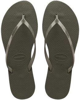 You Metallic Sandal