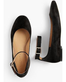 Olympia Ankle-strap Flats