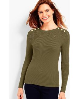 Shoulder-button Sweater