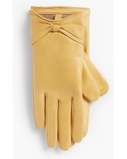 Leather Bow Glove