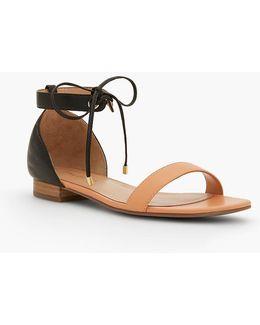 Sailor Tie-strap Sandals-soft Leather