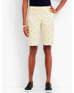 "10 1/2"" Lemon & Dots Bermuda Short"
