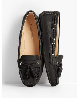 Everson Driving Moccasins - Pebbled Leather