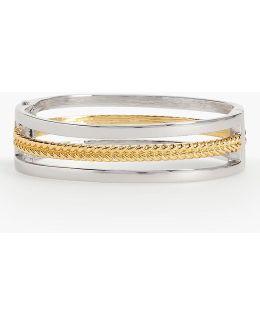 Mixed-braid Bangle Bracelet