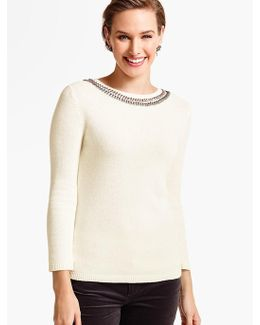Beaded-bateau Sweater
