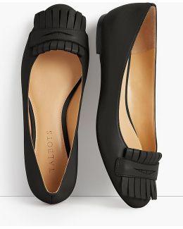 Olympia Kiltie Flat - Napa Leather