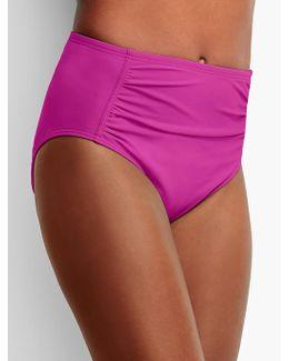 High-waist Shirred Swim Bottoms-miraclesuit®