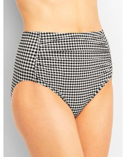 Beach-front Shirred Gingham Bottoms-miraclesuit®