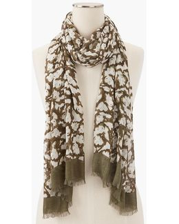 Ghosted Floral Scarf