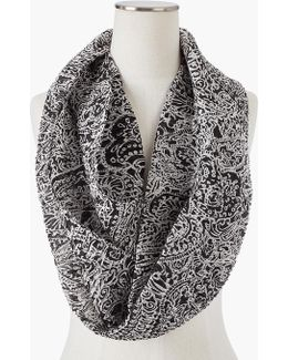 Pleated Scroll Infinity Scarf