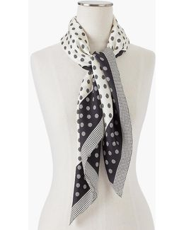 Polka Dots & Houndstooth Scarf