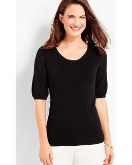 Bishop-sleeve Sweater
