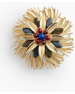 Frayed Flower Pin