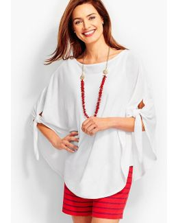Side-tie Rounded Poncho