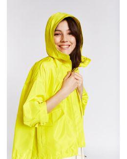 Yellow Taffeta Nylon Anorak