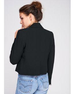 Black Crepe Bow Jacket