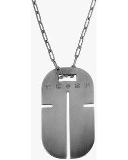 Gunmetal Iconic Cross Id Pendant
