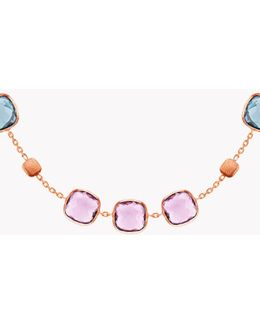 14k Rose Gold Belgravia Necklace With Amethyst And London Blue Topaz