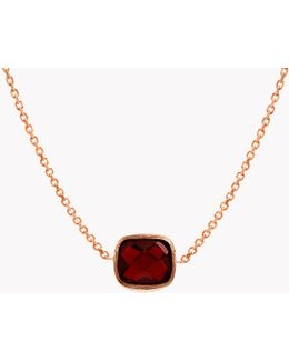 14k Rose Gold Belgravia Heart Necklace With Garnet