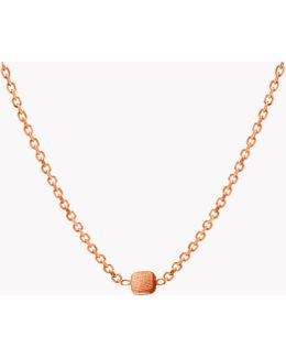 14k Rose Gold Belgravia Necklace With Gold Cushions