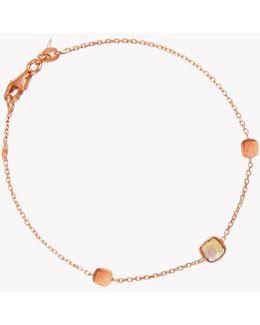 14k Rose Gold Single Stone Belgravia Bracelet With Black Rutilated Quartz
