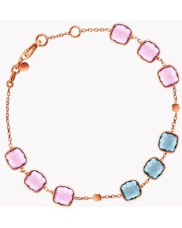 14k Rose Gold Belgravia Bracelet With Amethyst And London Blue Topaz