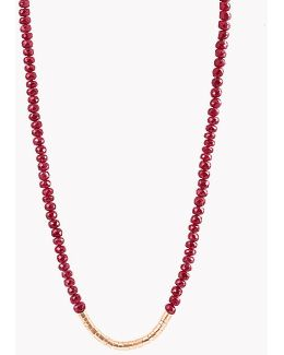 Bamboo Ruby 18k Gold Necklace