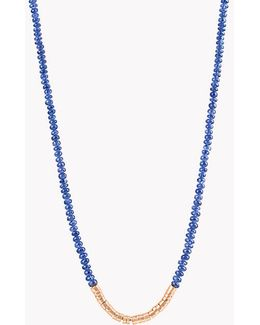Bamboo Burmese Sapphire 18k Gold Necklace
