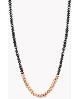 Bamboo Black Diamonds & 18k Gold Necklace